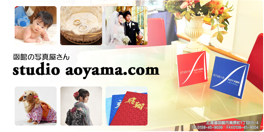 スタジオアオヤマのホームページ